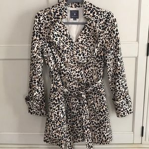 Forever 21 cotton leopard trench